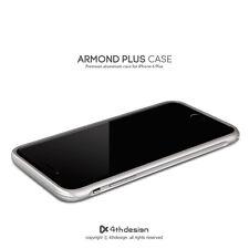 New 4thdesign ARMOND CASE  Premium aluminum case for iPhone 6 Plus, Silver color