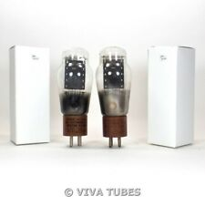 Tests NOS Matched Pair Hytron VT-25A [Type 10] Black Plate Rattle Vacuum Tubes