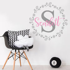 Personalise Initial Baby Nursery Bedroom Little Girl Mural Sticker Decal Decor