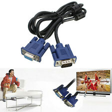 1.5m VGA SVGA Male to Female M/F Extension Cable Cord 15 Pin For PC TV Monitor