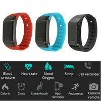 bluetooth Smart Watch Sports Heart Rate Blood Pressure Monitor  ; !