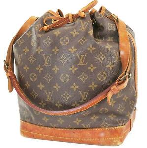 Authentic LOUIS VUITTON Noe Monogram Shoulder Tote Bag Purse #39408