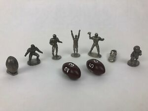 MONOPOLY NFL EDITION 7 FOOTBALL THEMED MOVERS 2 FOOTBALL SHAPED DICE PARTS Rare