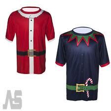 Hot Christmas Novelty Santa T Shirt Men Funny T-Shirt by Novelty Festive Prints