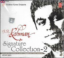 A R RAHMAN - SIGNATURE COLLECTION 2 - NEW  BOLLYWOOD SONGS 3CDs SET