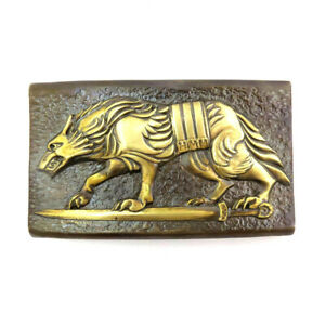 "Belt buckle  ""Werewolf"", Military belt buckle; Wolf buckle,"