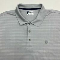 Izod Golf Polo Shirt Men's Size 2XL XXL Short Sleeve Gray Check Chest Logo