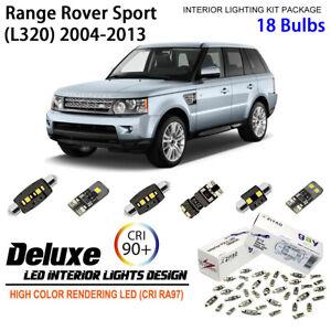 LED Light Bulbs Interior Light Kit Xenon White For 2004-2013 Range Rover Sport