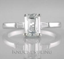 Solitaire with Accents Excellent Cut VS1 Fine Diamond Rings