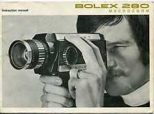 Bolex 280 Macrozoom super 8 movie camera instruction manual 1972