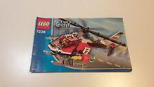 LEGO CITY!!! Istruzioni solo!!! PER 7238 Fire Elicottero