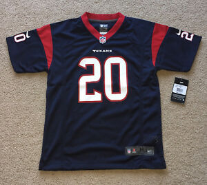 Ed Reed Houston Texans Youth/Kids Game Jersey. NWT. M or L. (Baltimore Ravens)
