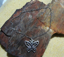"JAMES AVERY RARE 925 EXTRA LARGE LACE WING BUTTERFLY PENDANT & 17-1/2""LONG CHAIN"