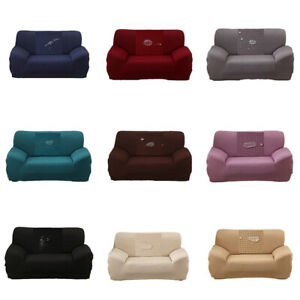 2 3 4 Seater Sofa Slip Covers Waterproof Stretch Pet Protector Loveseat Covers