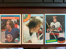Lot of 3 Bob Nystrom New York Islanders Autographed cards