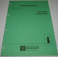 Werkstatthandbuch Peugeot Diebstahlwarnanlage Auto Alarm Beschreibung Wirkung!