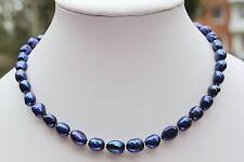 a25b blu perle d'acqua dolce gioiello collana di COLLIER BAROCCO