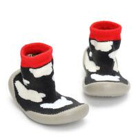 Chausson Botte Premier pas Imprimé Garçon Fille Chaussure Anti-glissement Chaud