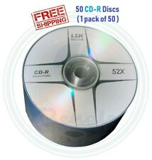 50 LSK CD CD-R Logo Grade A 52X 700mb/80Min (Compare to HP )