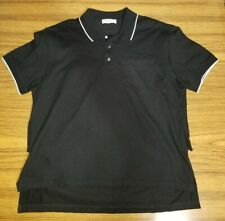 Givenchy Men's Layered Back Print Logo Polo Black Size M