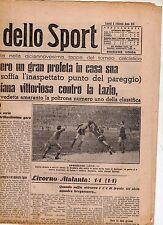 LA GAZZETTA DELLO SPORT DEL LUNEDI'  8  FEBBRAIO  1943    NR 33