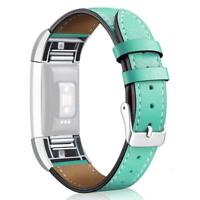 Leather Replacement Band Bracelet Strap WatchBand For Fitbit Charge 2 Q1G8