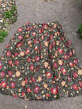 Vintage Ladies Floral Skirt By Jean Jerrard Old Size 14