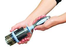 Hair Brush, Easy Clean Hairbrush  Ergonomic Round Bristle Built-In Remover