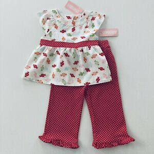 Gymboree Baby Girl 12-18 Months Top Pants Set Outfit Candy Red