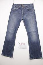 Lee Denver Bootcut (Cod. Y818) Tg.47 W33 L32 Jeans Usato Vita Alta Vintage Zampa