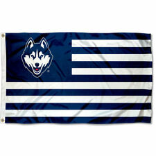 University of Connecticut Huskies Stars and Stripes Nation USA Flag
