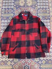 New listing vintage woolrich zip up mackinaw 70s plaid red M