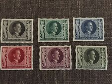 Mint Adolf Hitler 54th Birthday Stamp Set (1943 Issue) - Free shipping!