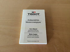 Instructions Booklet TISSOT - Analog watches - User's Manual - All Languages
