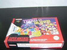 1994 TETRIS & DR MARIO PAL SNES SUPER Nintendo Entertainment System MINT