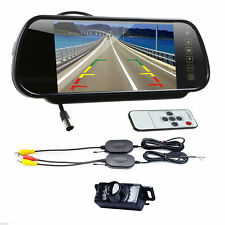 """CAR WIRELESS BACKUP INFRARED CAMERA SYSTEM WITH 7"""" REAR VIEW MIRROR MONITOR"""