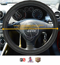 UNIVERSAL FIAT FAUX LEATHER STEERING WHEEL COVER BLACK