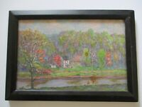 ANTIQUE IMPRESSIONIST PAINTING E.W BROWN 1930'S WEST CHESTER PENNSYLVANIA HOUSE