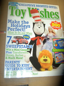 Toy Wishes Magazine Issue Holiday 2003 VINTAGE NEW SHOP STOCK  200+ PAGES