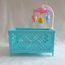 New 2018 Barbie Skipper Babysitter Doll Baby Playpen Crib With Mobile 4 Diorama