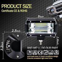 2X 72W Spot LED Light Work Bar Lamp Driving Fog Offroad SUV 4WD Car Boat Truck