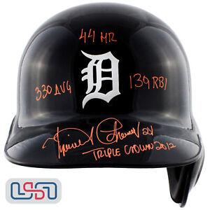 Miguel Cabrera Tigers Signed 2012 Triple Crown Full Size Batting Helmet JSA Auth