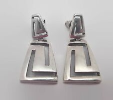 Sterling Silver Cut-Out Design Earrings