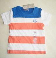 Tee-shirt blanc, orange et bleu neuf taille 3 mois marque Grain de Blé