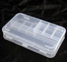 Plástico Transparente 10 compartimento Reversible Caja de almacenamiento con tapa para abalorios, Coser