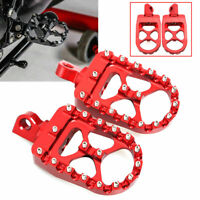 MX Style Red Aluminum Wide Fat Foot Pegs For Harley Davidson Dyna Sportster 883