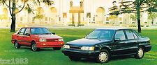 1989 HYUNDAI EXCEL / SONATA Brochure/Catalog: GS,GLS,GL,