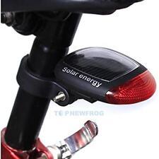 Solar intermitente LED Ciclismo Bicicleta Bici Power Rojo Lámpara Luz Trasera Con Seguridad
