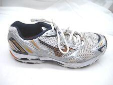 Mizuno Wave Rider 11 white silver orange running mens tennis shoes sz 7.5M