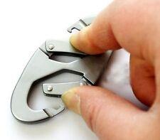Fd984 Aluminum Carabiner Snap Clip Hook Keychain Hiking Climb Bottle Buckle 1pc/